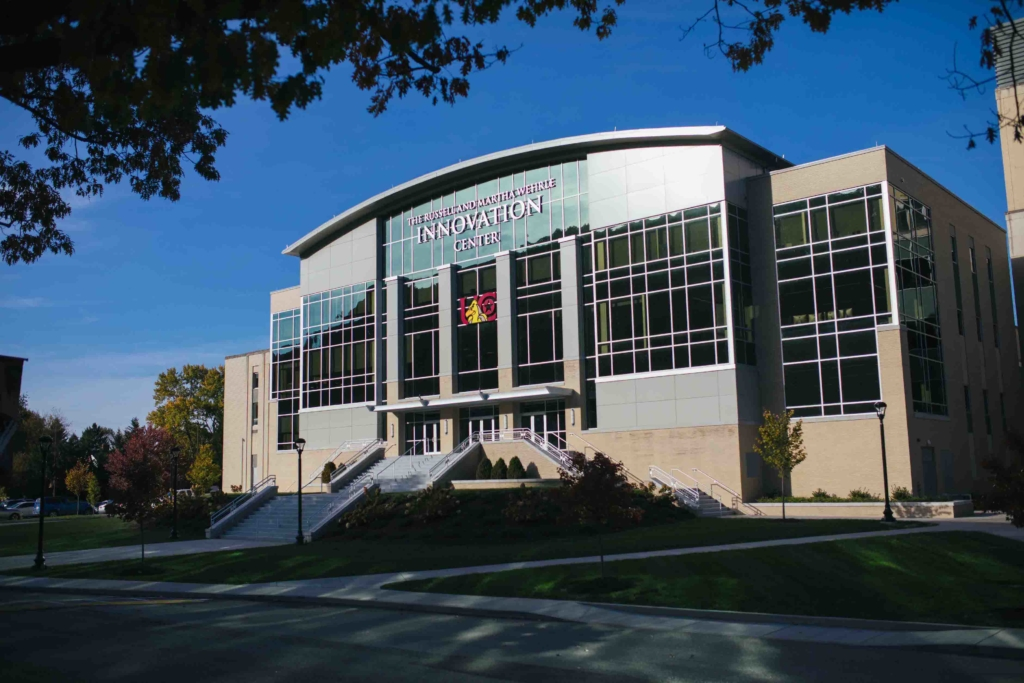 front of the Innovation Center