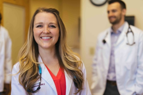 Smiling female Physician Assistant