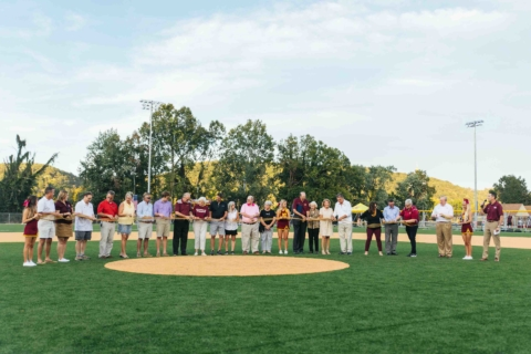 Ribbon cutting for Welch Athletic Complex