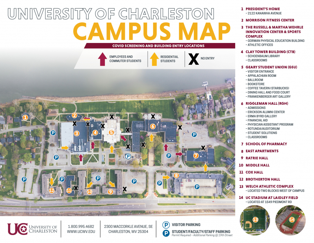 updated campus map