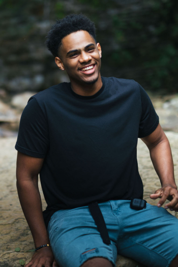 black male laughing